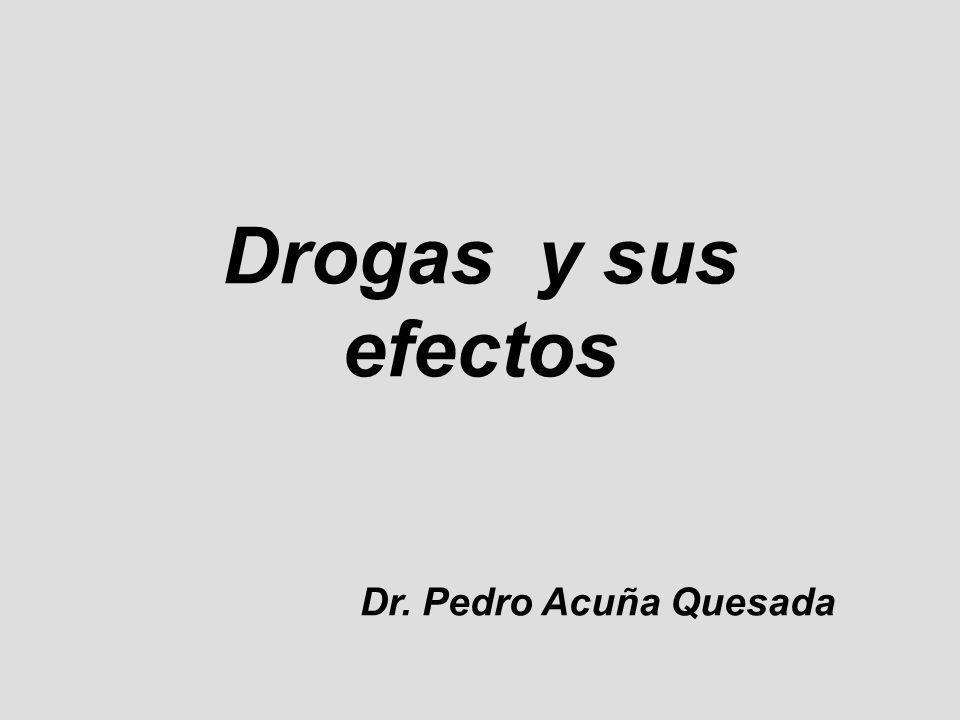 Drogas y sus efectos Dr. Pedro Acuña Quesada