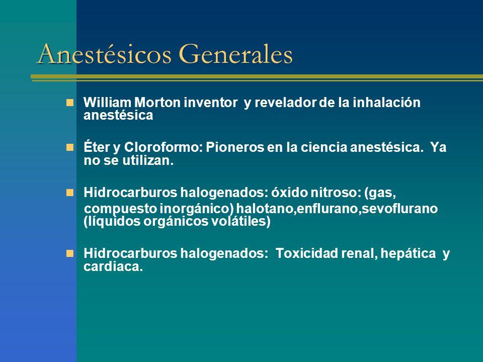 Barbitúricos Tiopental –Acción corta, altamente liposoluble.