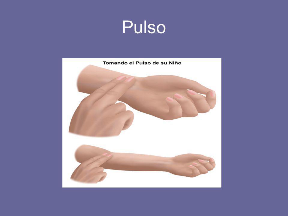 PULSO –Representa el número de ciclos cardíacos por minuto.