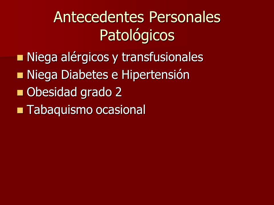 Quirúrgicos Bypass gástrico (Gastréctomía Parcial más Gastro-yeyuno anastomósis con Y de Roux) Bypass gástrico (Gastréctomía Parcial más Gastro-yeyuno anastomósis con Y de Roux) Hace 5 meses por Obesidad grado 2 (38 IMC) después del fracaso del tratamiento dietético.