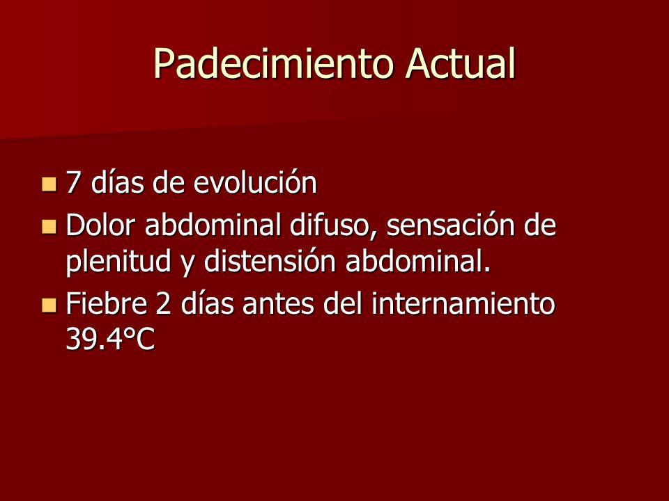 Fuga de la anastomosis 1-5.6% 1-5.6% 0-28 días 0-28 días Taquicardia, fiebre Taquicardia, fiebre dolor abdominal dolor abdominal Drenaje purulento Drenaje purulento Published by Elsevier Inc.