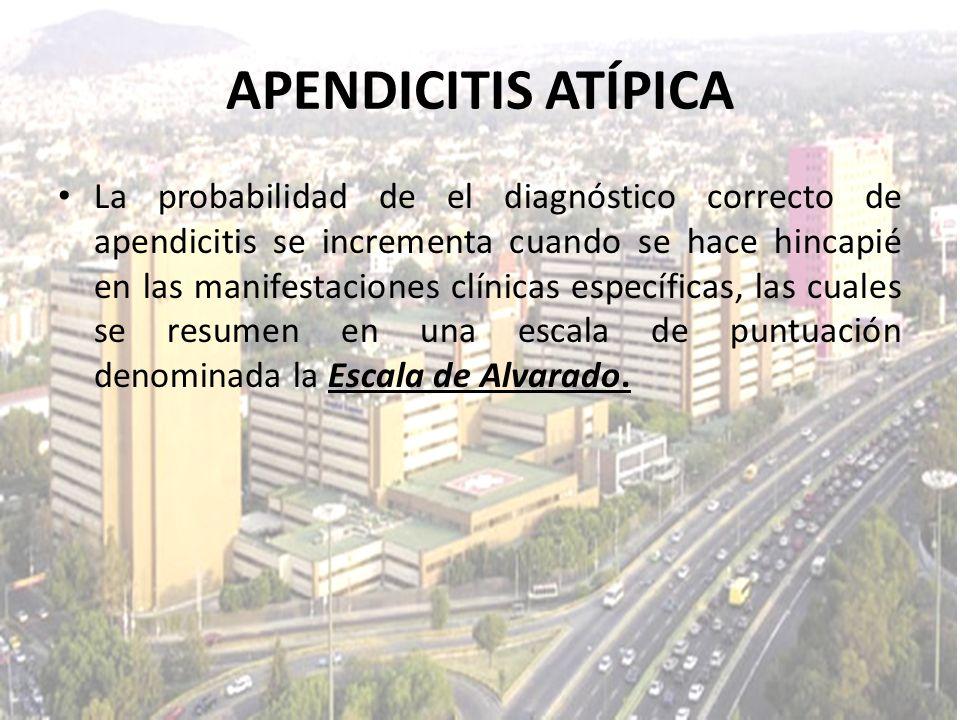 La probabilidad de el diagnóstico correcto de apendicitis se incrementa cuando se hace hincapié en las manifestaciones clínicas específicas, las cuale