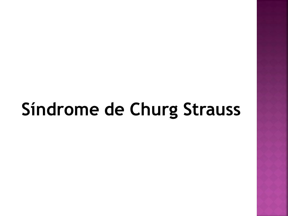 Síndrome de Churg Strauss