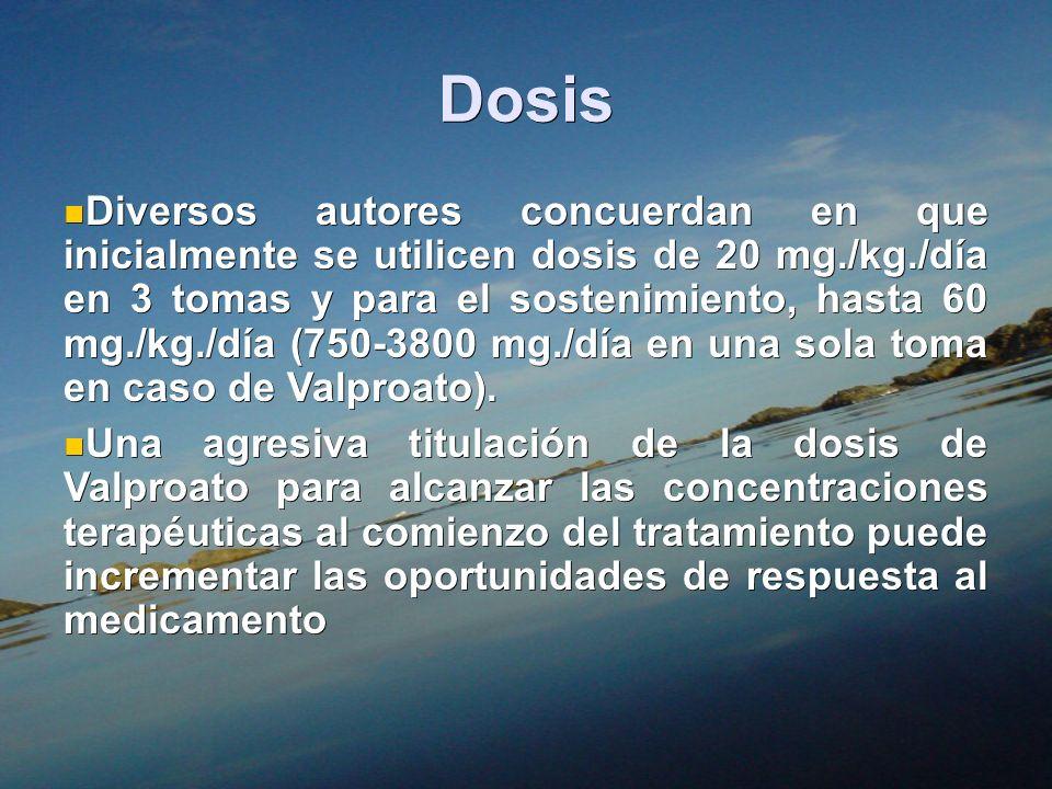 Dosis Diversos autores concuerdan en que inicialmente se utilicen dosis de 20 mg./kg./día en 3 tomas y para el sostenimiento, hasta 60 mg./kg./día (75