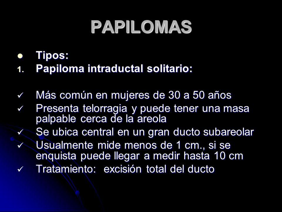 PAPILOMAS Tipos: Tipos: 1.
