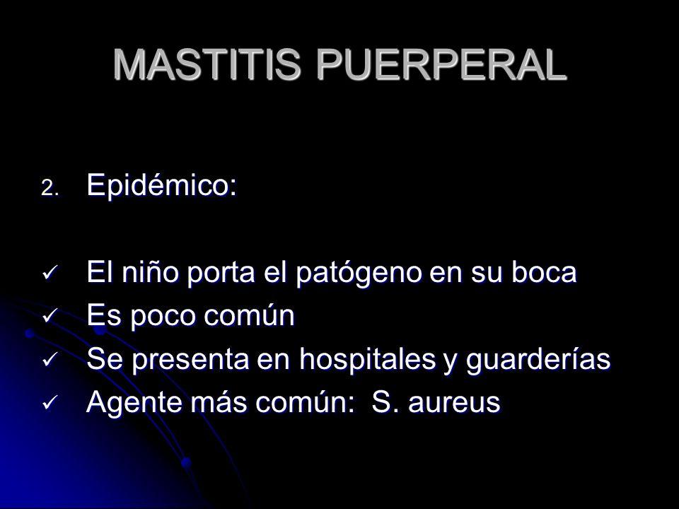 MASTITIS PUERPERAL 2.