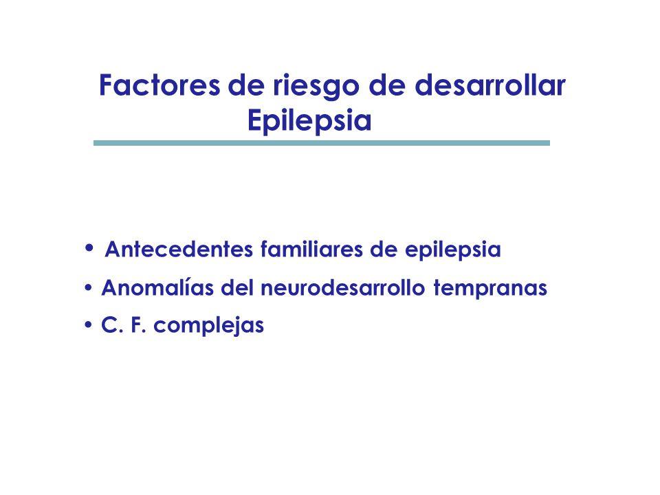 Factores de riesgo de recurrencia de C. F. 30- 40% recurren Edad ( 50% recurren en el 1° año de la crisis inicial) Antecedentes familiares de C. F., e