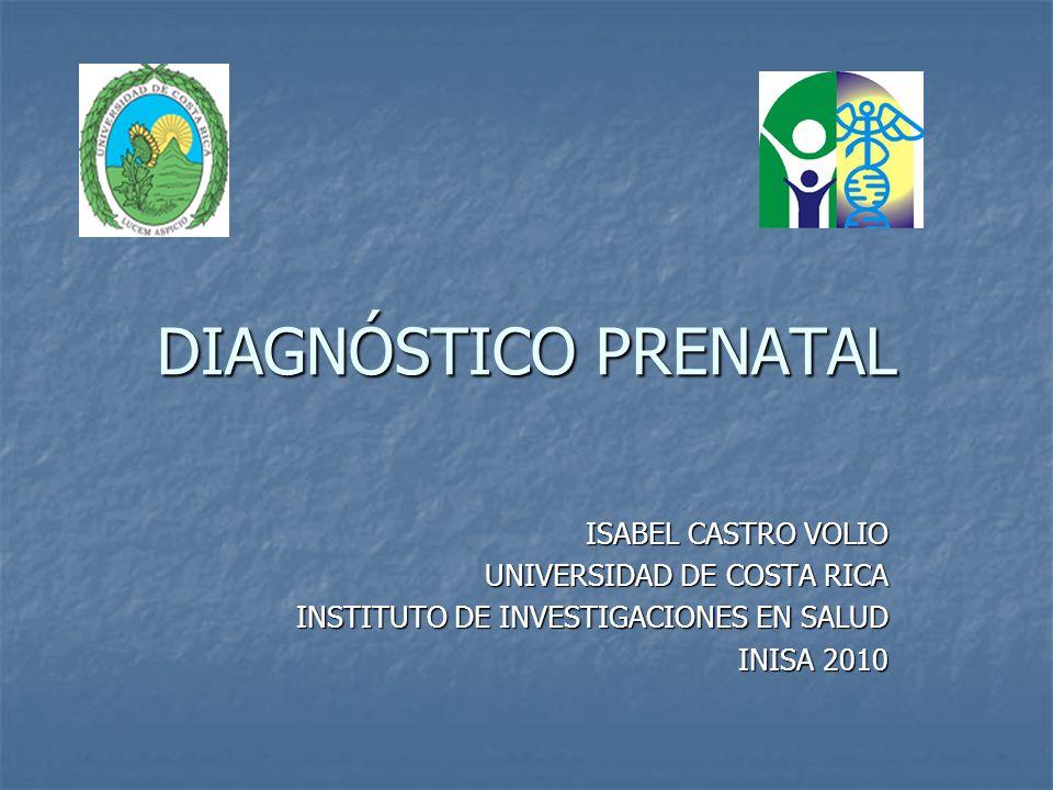 Tamizaje prenatal infraestructura
