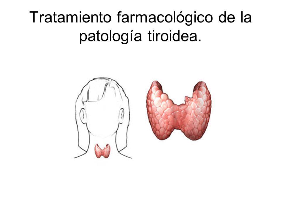 Tratamiento farmacológico de la patología tiroidea.
