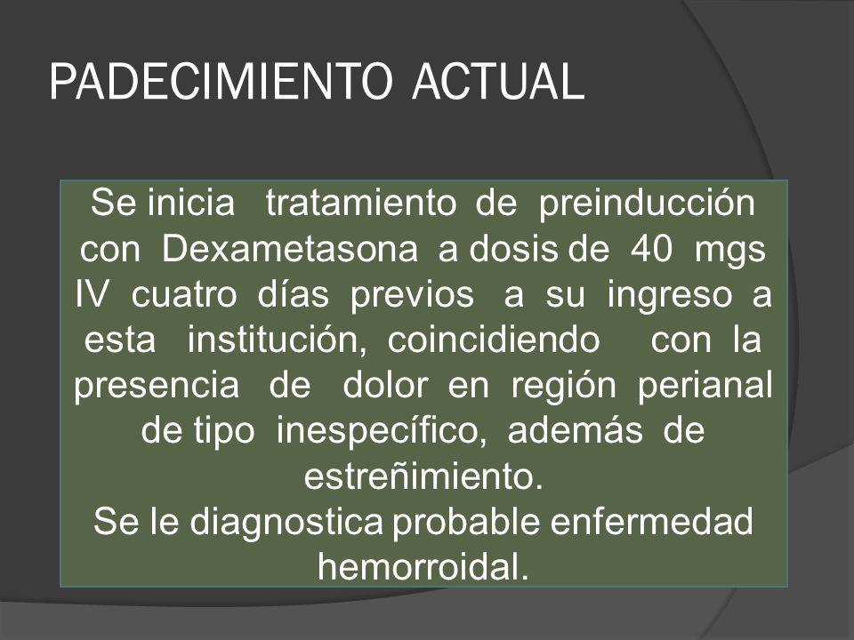 PADECIMIENTO ACTUAL Inicia un mes previo al presentar dolor en región cervical anterior, el cual relacionó con odontalgia, acudiendo a tratamiento con