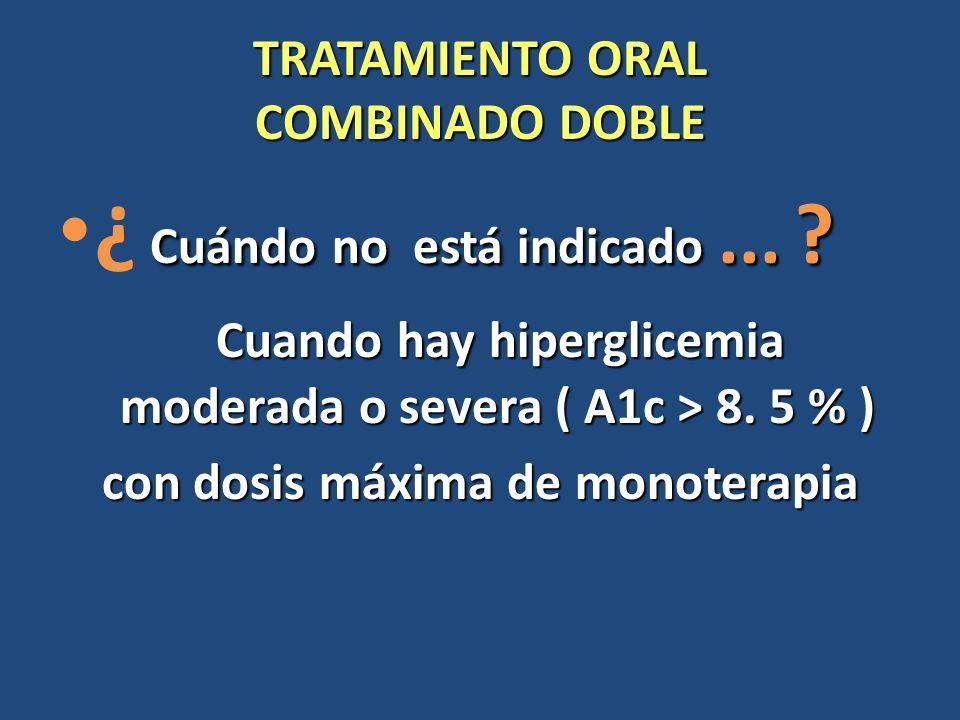 TRATAMIENTO ORAL COMBINADO DOBLE Cuando el tratamiento oral combinado doble no es óptimo...