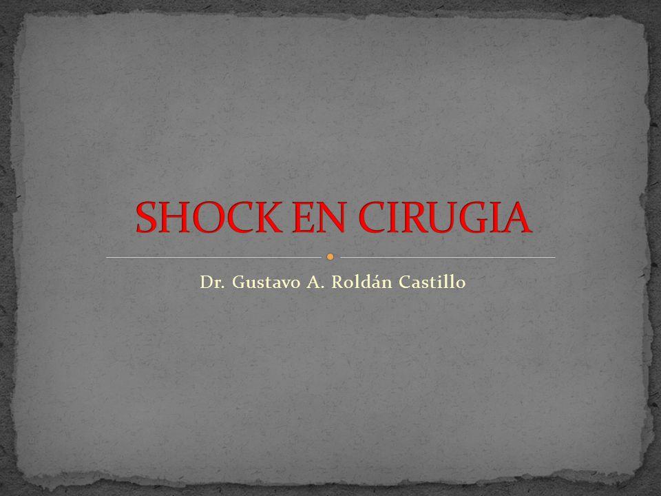 SHOCK EN CIRUGIA Fisiopatología Estímulo simpático lecho venoso Precarga Respuesta Cardiovascular Catecolaminas