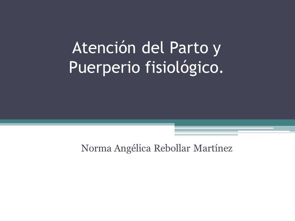Atención del Parto y Puerperio fisiológico. Norma Angélica Rebollar Martínez