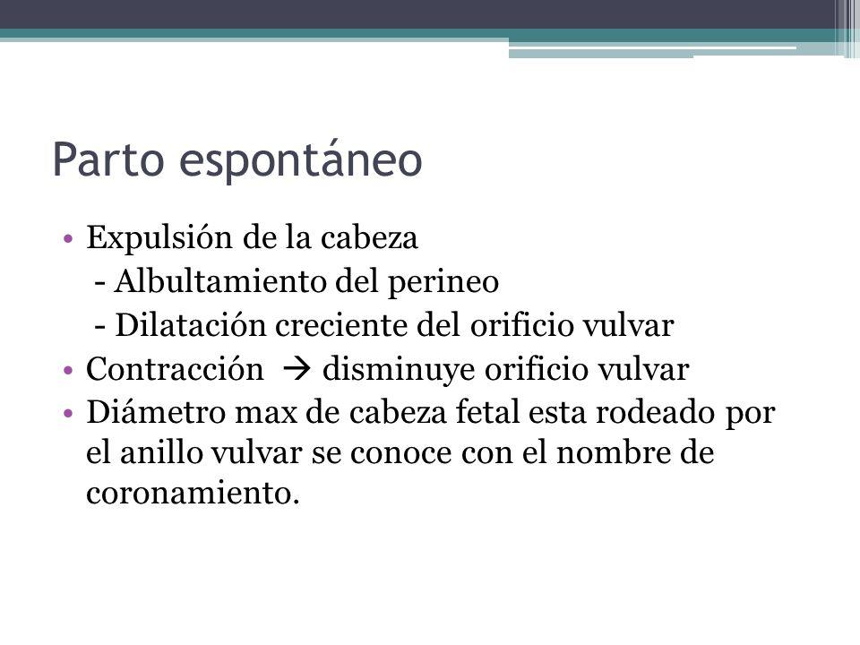 Dolor posparto Primíparas contracción tónica Multíparas contracción con intervalos entuertos Generalmente >3 días el dolor disminuye.
