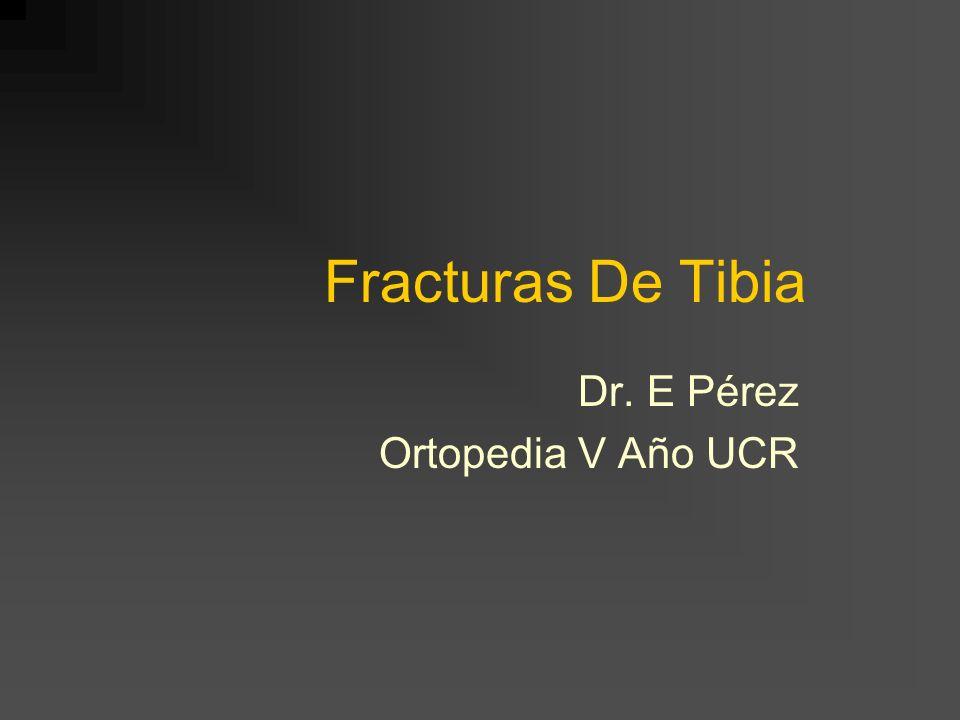 Fracturas De Tibia Dr. E Pérez Ortopedia V Año UCR