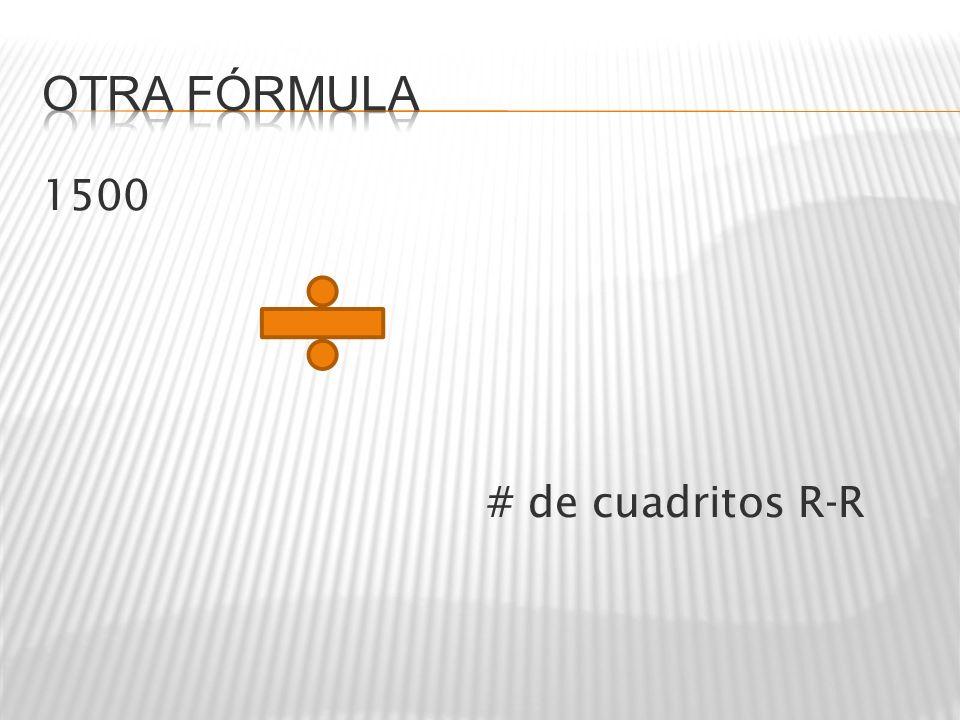 1500 # de cuadritos R-R