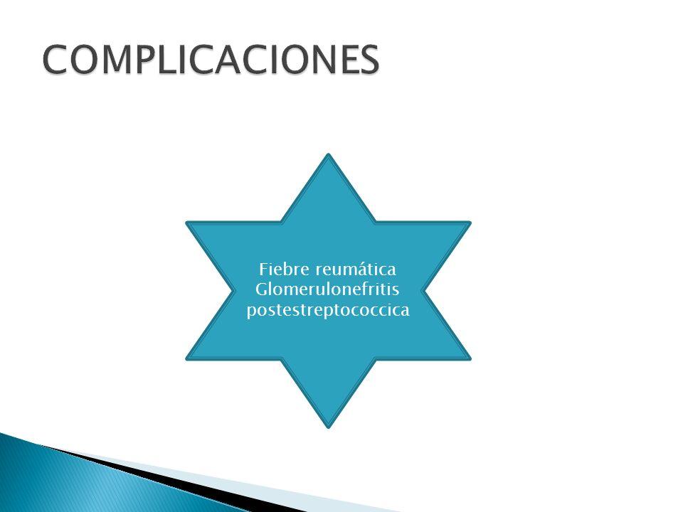 Tx Aliviar síntomas Prevenir complicaciones Penicilina 125-250mg/dosis/3 veces por día /10 días Bencilpenicilina benzatina 600,000 U< 27 kg 120,000,000 U >27 kg Eritromicina 40 mg kg 25 hrs Clindamicina 30 mg kg 24 hrs