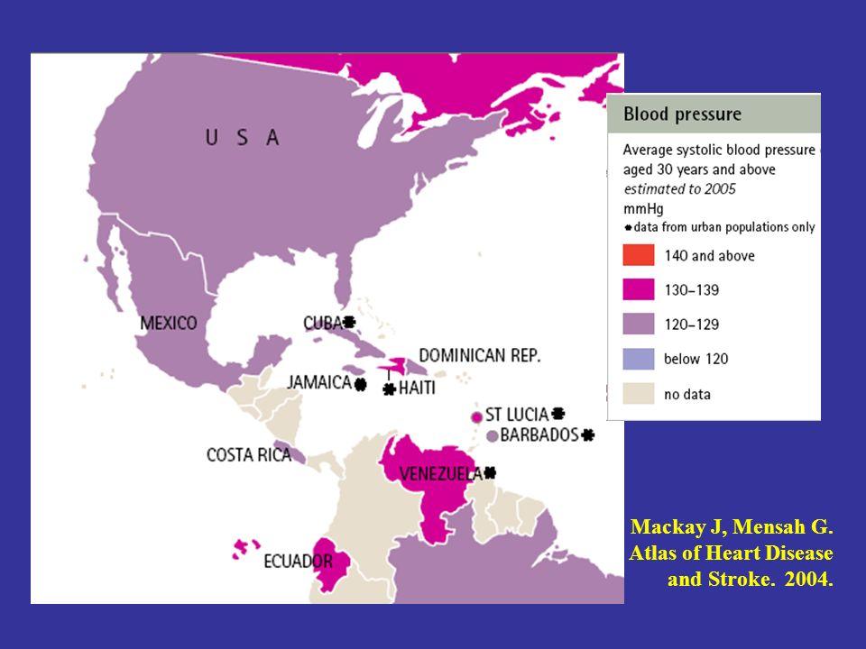 Mackay J, Mensah G. Atlas of Heart Disease and Stroke. 2004.