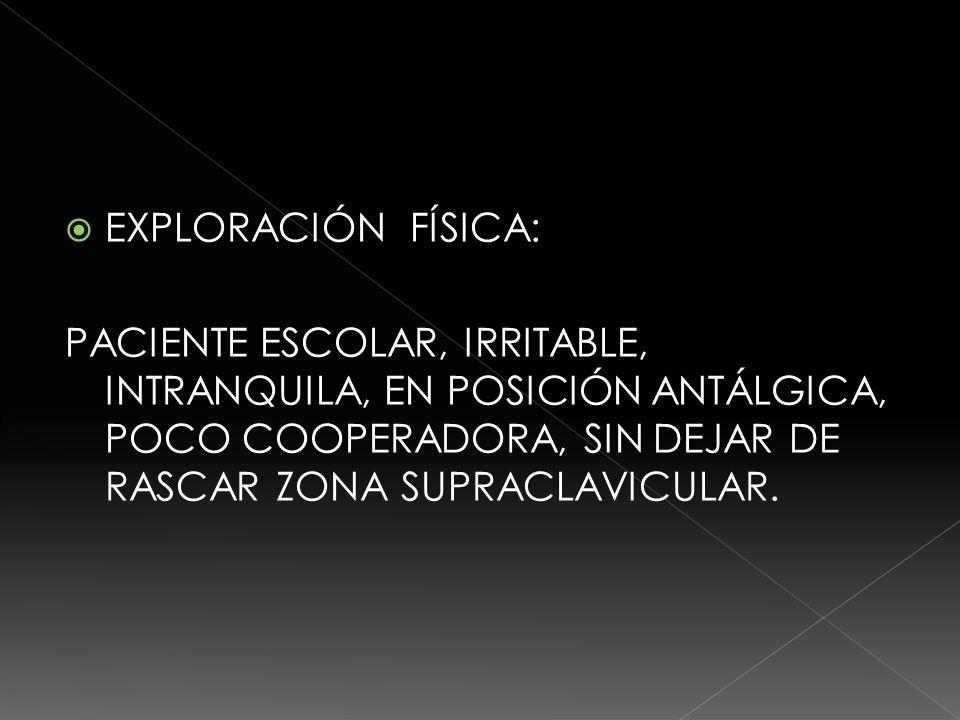 CRÁNEO: NORMOCEFALO, SIN ENDO NI EXOSTOSIS, REFLEJOS PUPILARES NORMALES, NARINAS PERMEABLES, MUCOSA ORAL LEVEMENTE DESHIDRATADA, FARINGE NORMAL, OIDOS NORMALES CUELLO, PULSOS CAROTÍDEOS SINCRÓNICOS, NO GANGLIOS PALPABLES.