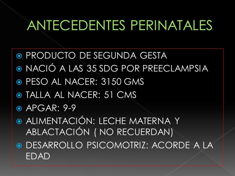 VARICELA A LOS 2 AÑOS INFECCIONES DE VIAS AEREAS SUPERIORES DE REPETICIÓN.