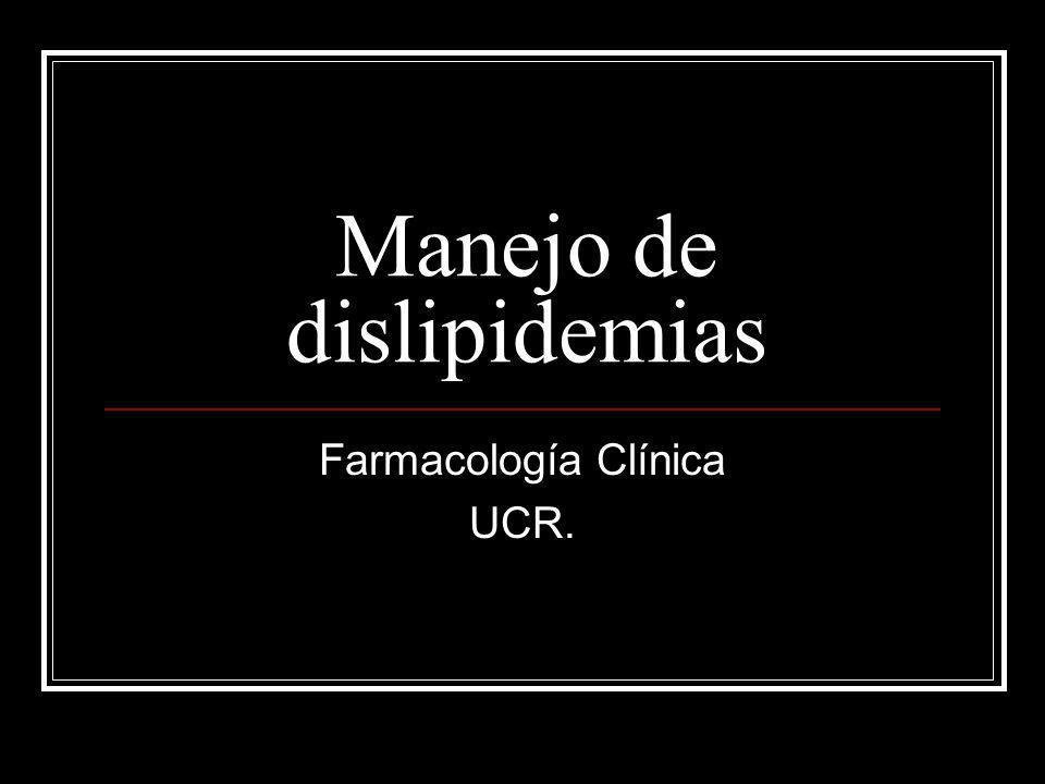 Introducción Importancia de las dislipidemias: Enfermedad cardiovascular Pancreatitis Dislipidemias: Primarias (Dislipidemias familiares) AHF de enfermedad cardiovascular precoz AHF de desórdenes lipídicos Niveles de lípidos muy elevados.
