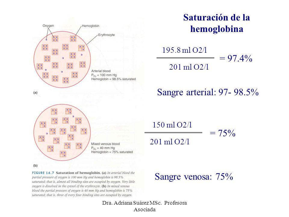 Curva de disociación de la hemoglobina Forma sigmoidea (cooperativismo): Afinidad de la hemoglobina por el oxígeno aumenta progresivamente a medida que aumenta la P O2 de la sangre.