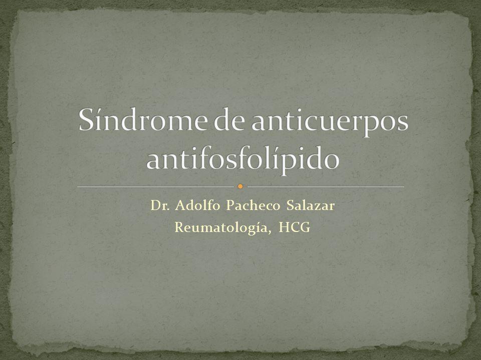 Dr. Adolfo Pacheco Salazar Reumatología, HCG