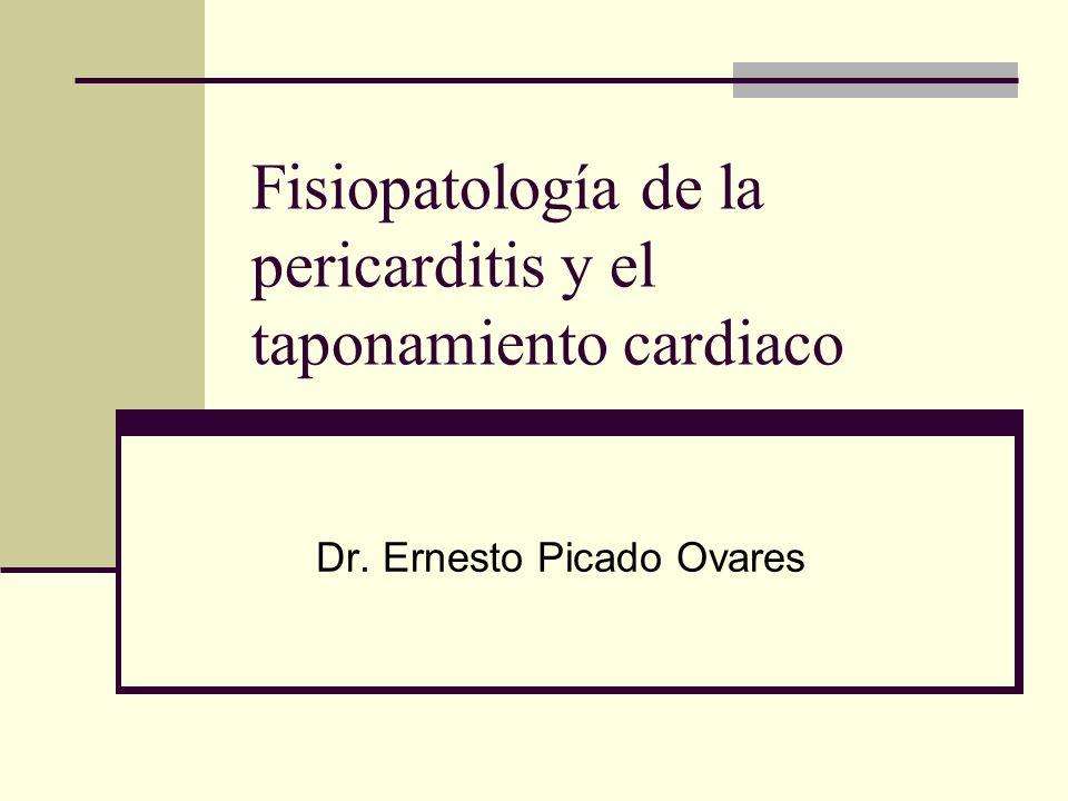 Fisiopatología de la pericarditis y el taponamiento cardiaco Dr. Ernesto Picado Ovares