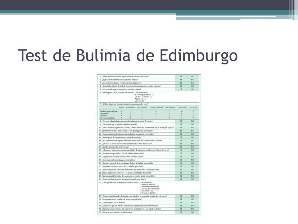 Test de Bulimia de Edimburgo