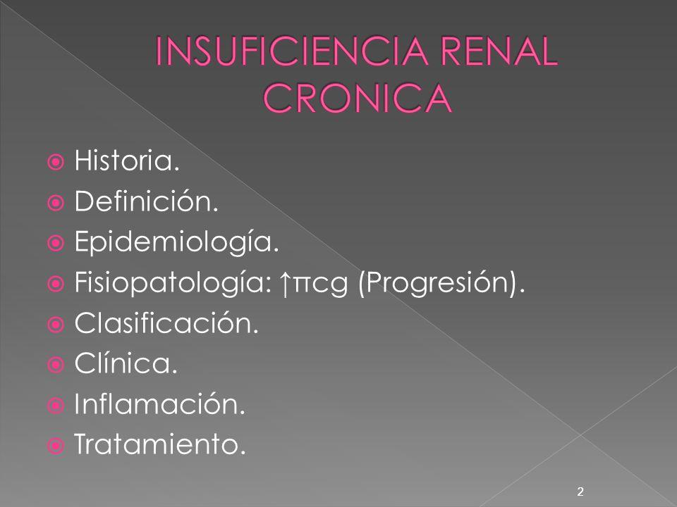 2 Historia. Definición. Epidemiología. Fisiopatología: πcg (Progresión). Clasificación. Clínica. Inflamación. Tratamiento. 2