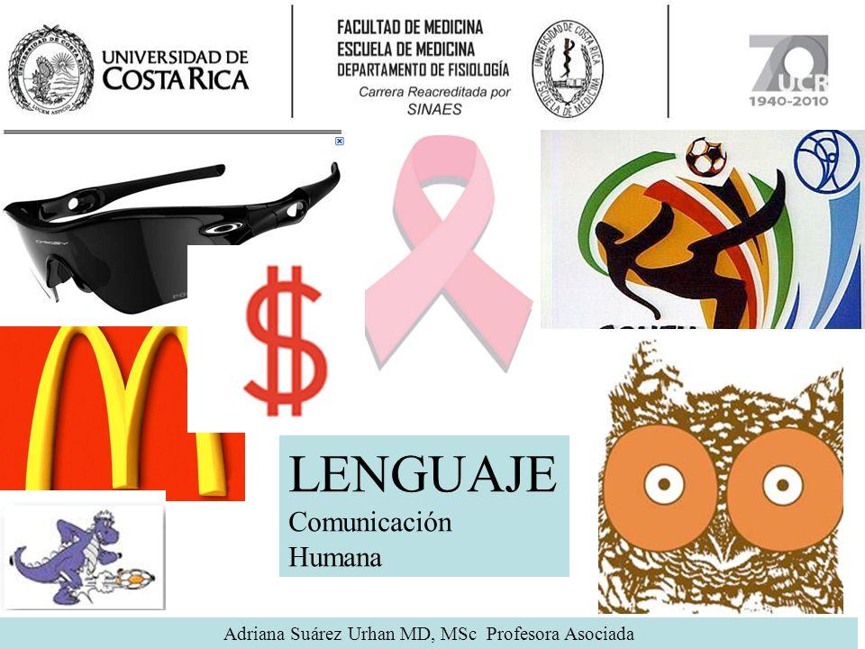 Adriana Suárez Urhan MD, MSc Profesora Asociada LENGUAJE Comunicación Humana