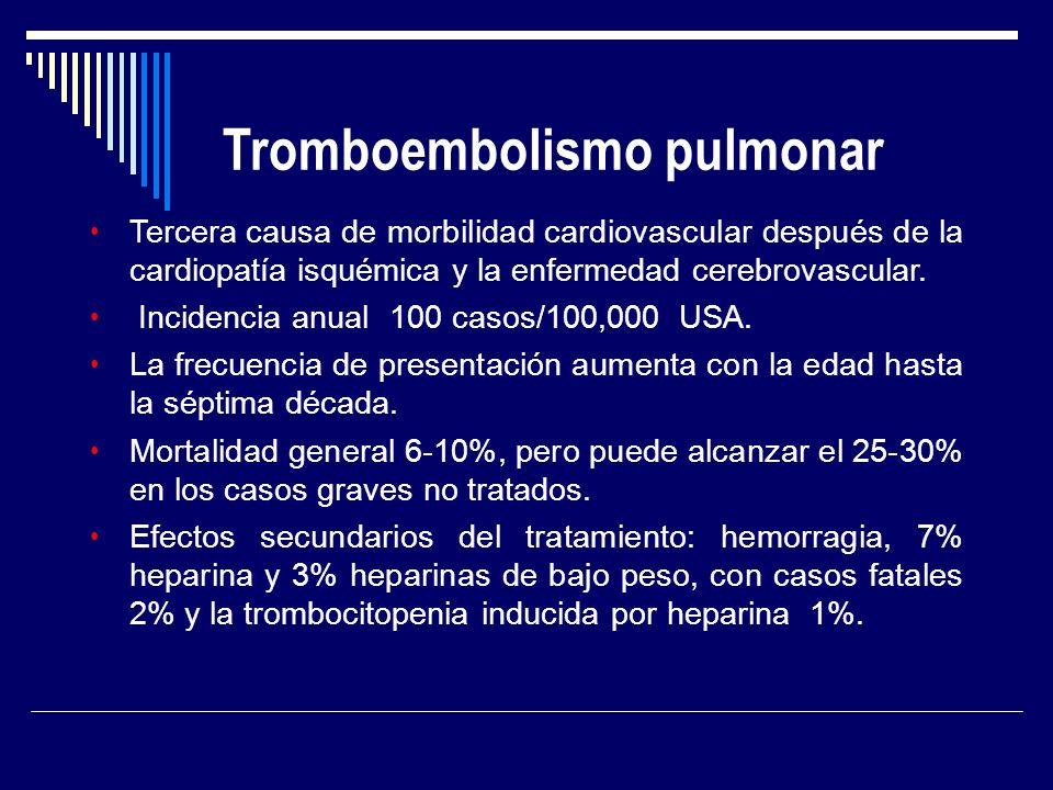 Tercera causa de morbilidad cardiovascular después de la cardiopatía isquémica y la enfermedad cerebrovascular. Incidencia anual 100 casos/100,000 USA