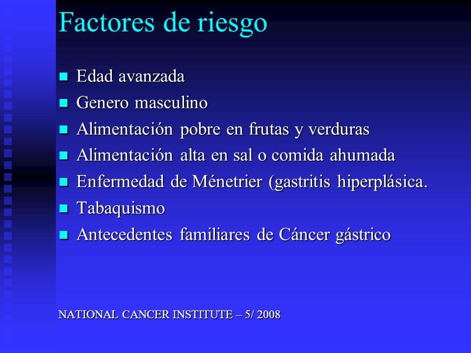 Estadificación: Estadificación: TNM tumor, nódulos, metástasis.