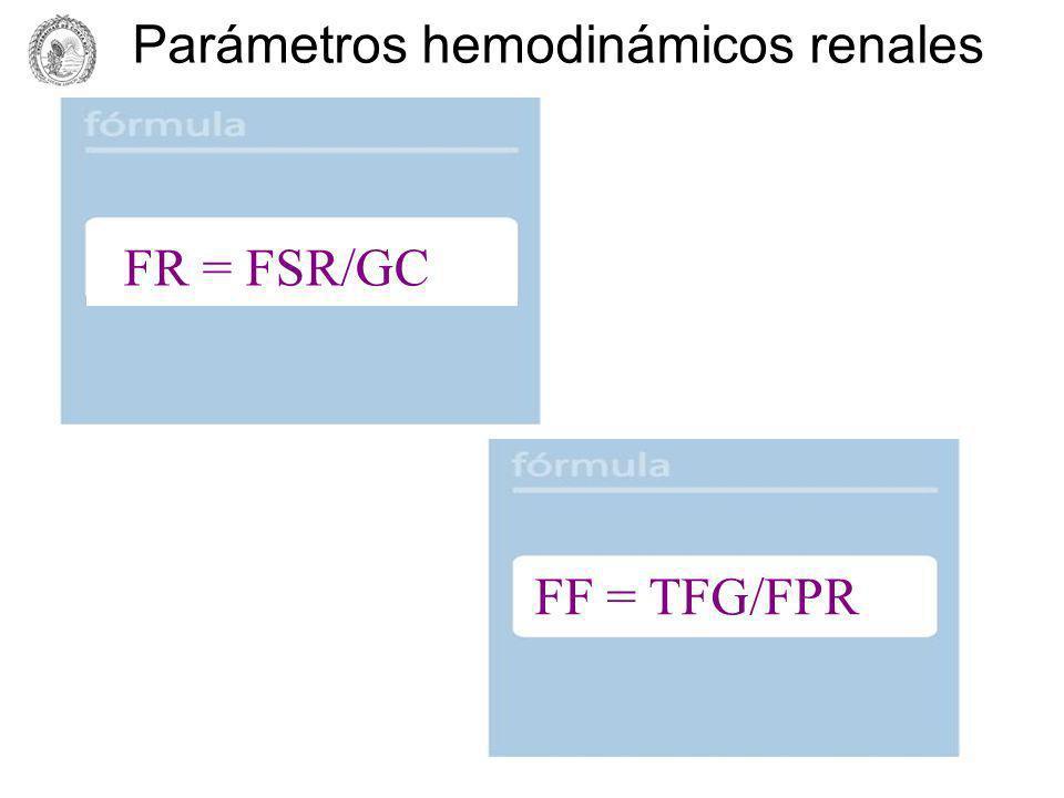 Fracción Renal FSR GC 1.25 L/MIN 5 L/MIN = 0.25 or 25%