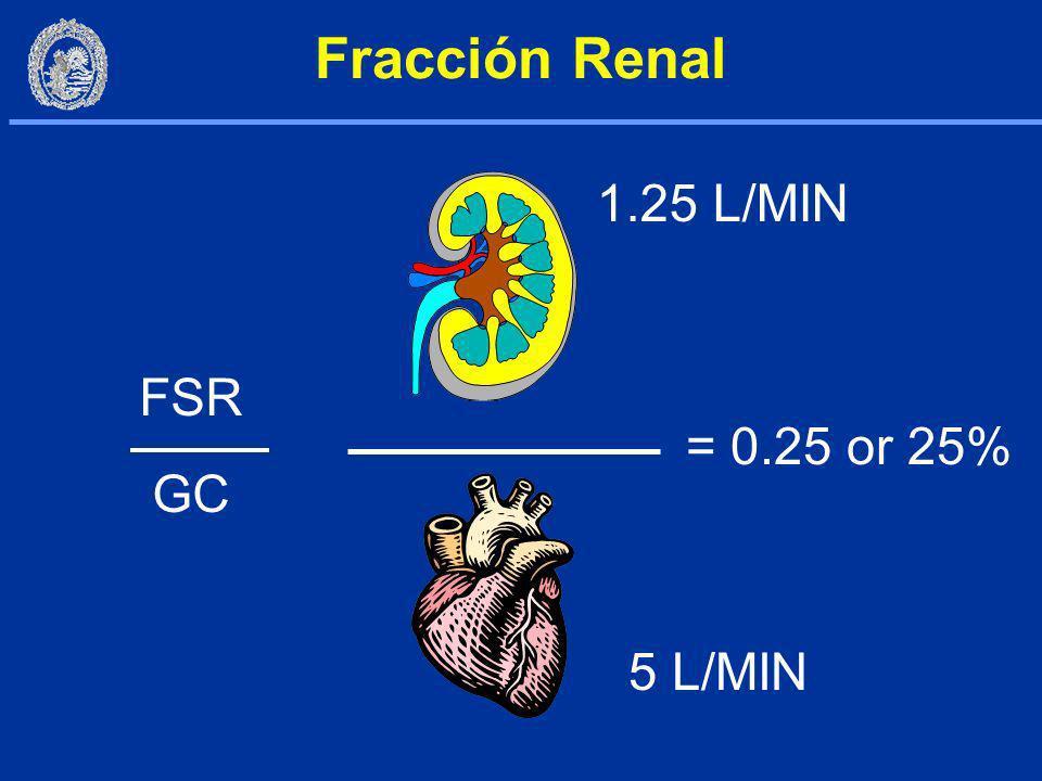 FPR = FSR x [1-(Hcto/100)] FF = TFG/FPR FF = (125 mL/min)/(687 mL/min) FF = 0.18 Fracción de Filtración