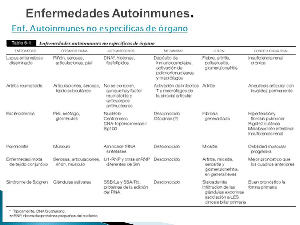 Enf. Autoinmunes no específicas de órgano 11