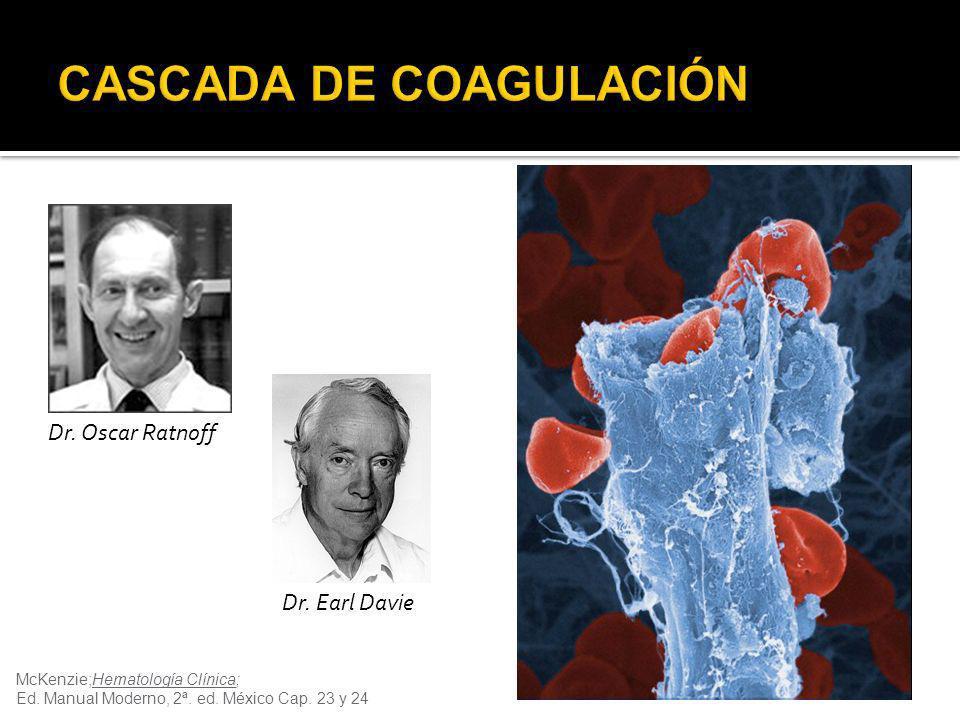 McKenzie;Hematología Clínica; Ed. Manual Moderno, 2ª. ed. México Cap. 23 y 24 Dr. Oscar Ratnoff Dr. Earl Davie