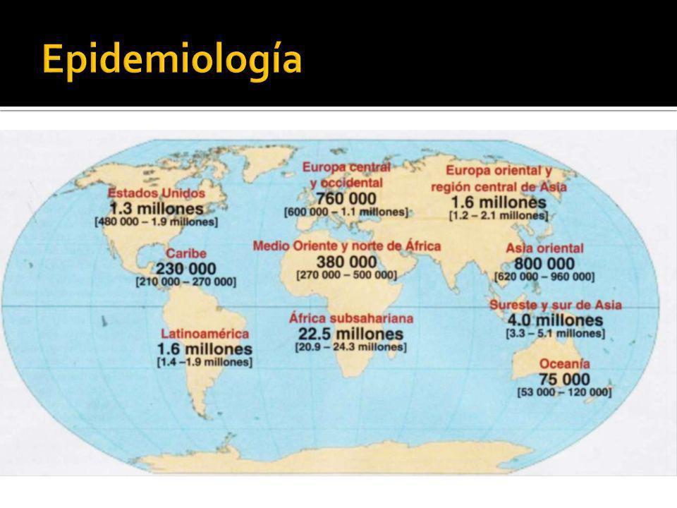 Pandemia 95% viven en países en vías de desarrollo 2.5 millones son niños menores de 15 años Sureste de África es la región más afectada.