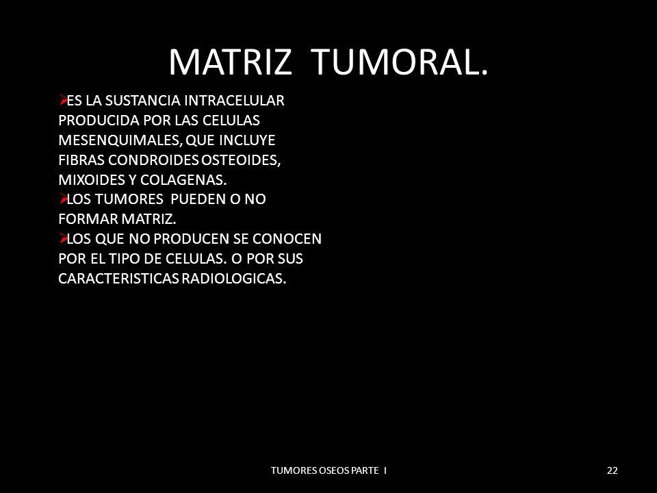 MATRIZ OSEA.TUMORES OSEOS PARTE I23 MATRIZ TUMORAL OSTEOIDE.