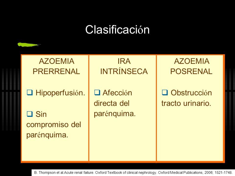 Tratamiento Hiperfosfatemia Restricci ó n de fosfato en la dieta (<800mg/d í a) Agentes portadores de fosfato (acetato de calcio, carbonato de calcio, hidroxialuminio, etc) Supportive management of ARF, ElSEVIER Limited 2003