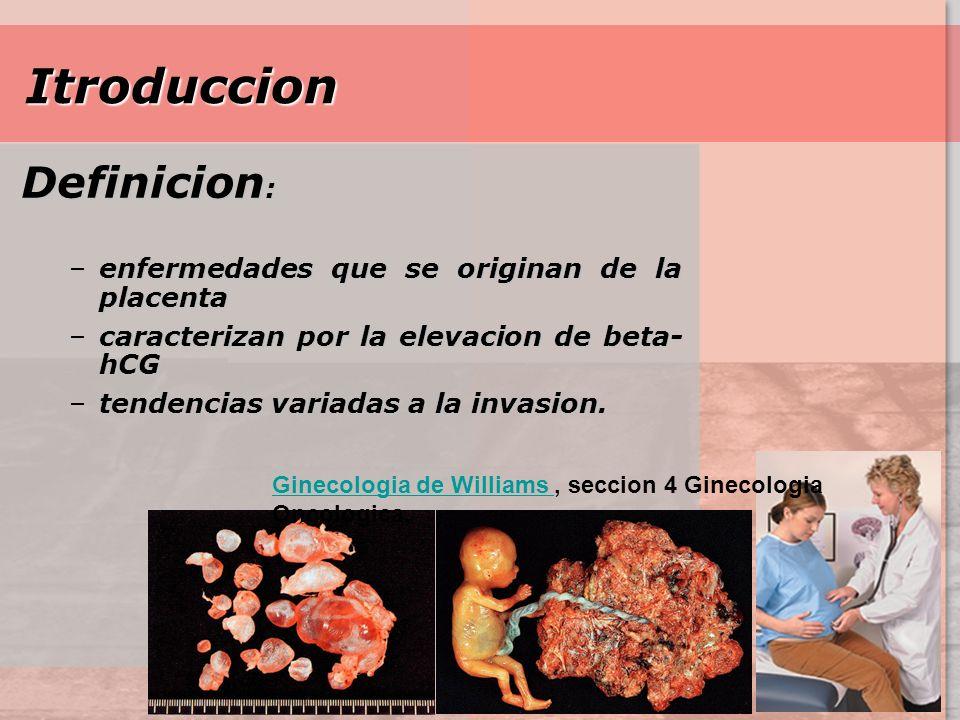 Modificacion De WHO de Enfermedad Trofoblastica Gestacional Lesion Molar Mola Hidatiforme Completa Parcial Mola Invasiva Lesion No Molar Coriocarcinoma Tumor Trofoblastico en placenta Tumor Trofoblastica Epitelial