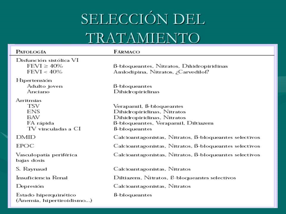 SELECCIÓN DEL TRATAMIENTO