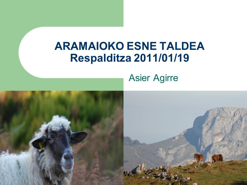 ARAMAIOKO ESNE TALDEA Respalditza 2011/01/19 Asier Agirre