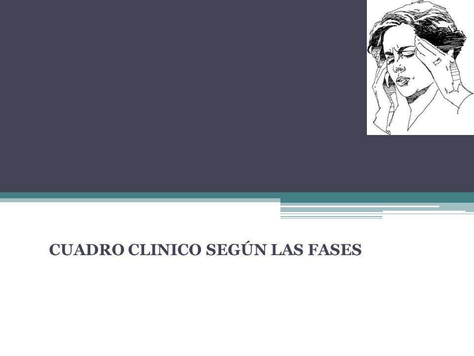 CUADRO CLINICO SEGÚN LAS FASES