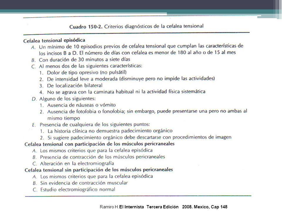 Ramiro H.El Internista Tercera Edición 2008. Mexico, Cap 148