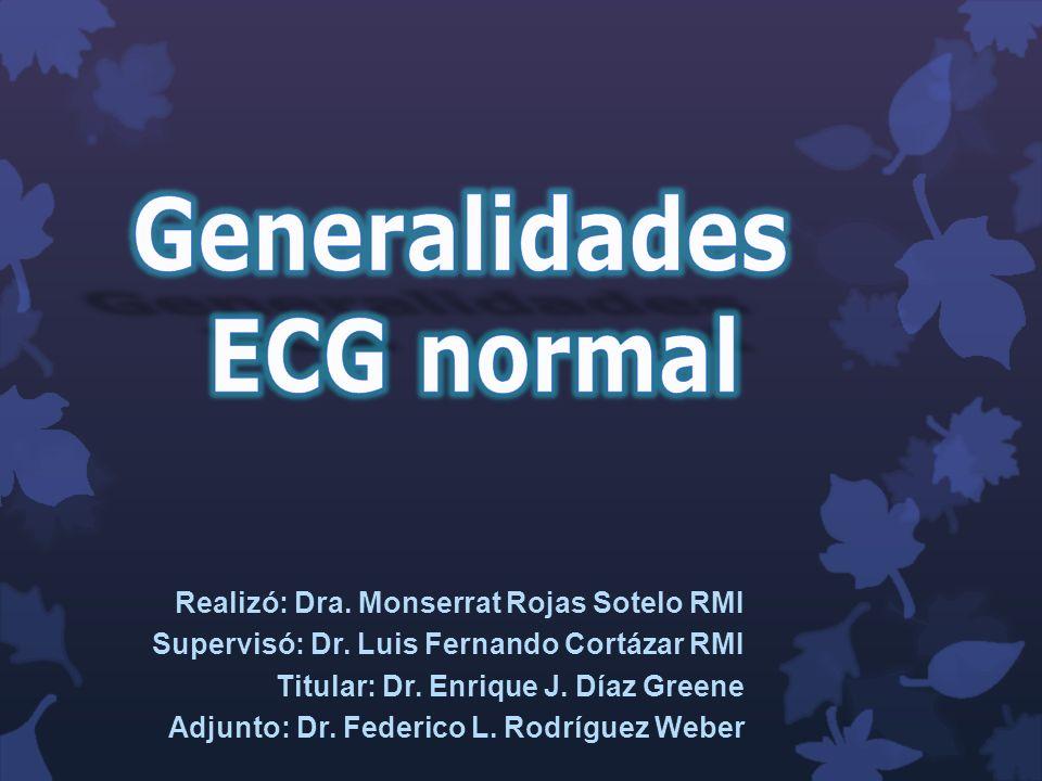 Generalidades Una onda de despolarización que se mueve hacia un electrodo se registra como una deflexión positiva en el ECG.