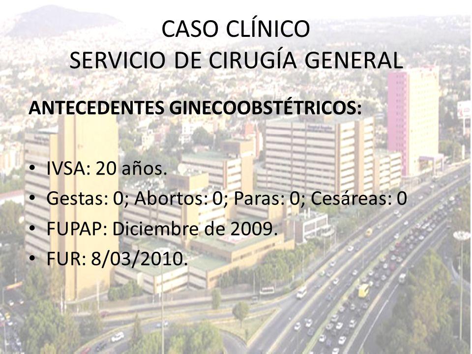 FLUOROSCOPÍA 18/03/2010 CASO CLÍNICO SERVICIO DE CIRUGÍA GENERAL