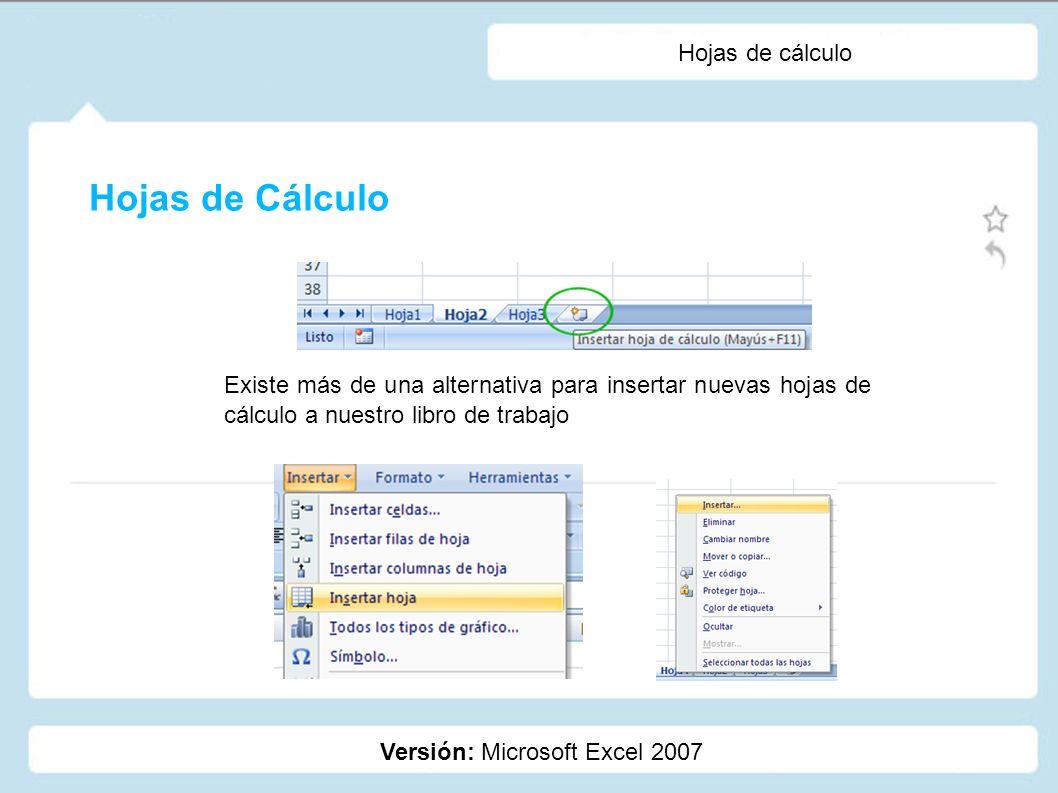 Hojas de cálculo Versión: Microsoft Excel 2007 Con el fin de organizar de mejor forma nuestra información, podemos vincular contenido de distintas hojas, inclusive en fórmulas.