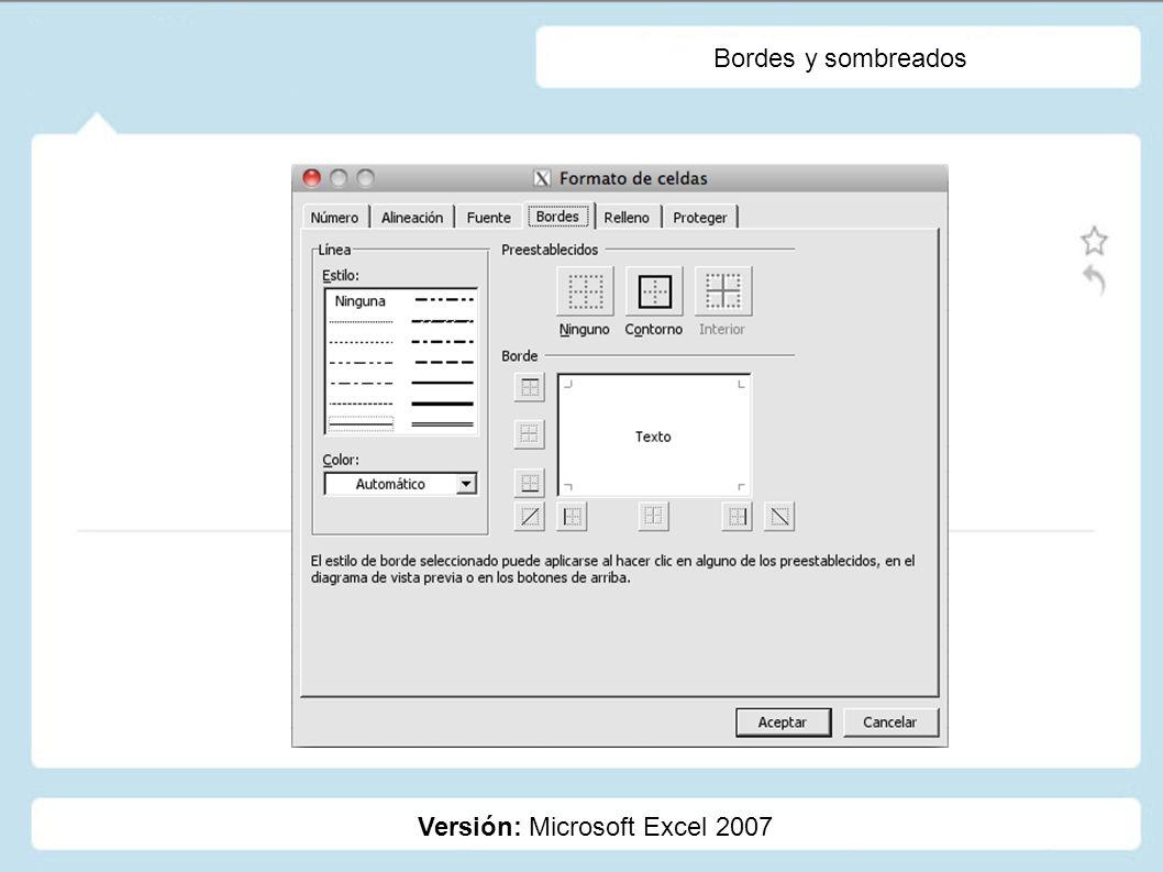 Creación de estilos Versión: Microsoft Excel 2007 Estilos: Los estilos nos permiten mejorar la presentación de nuestros proyectos, administrando desde el tipo de número, hasta los colores de una celda.