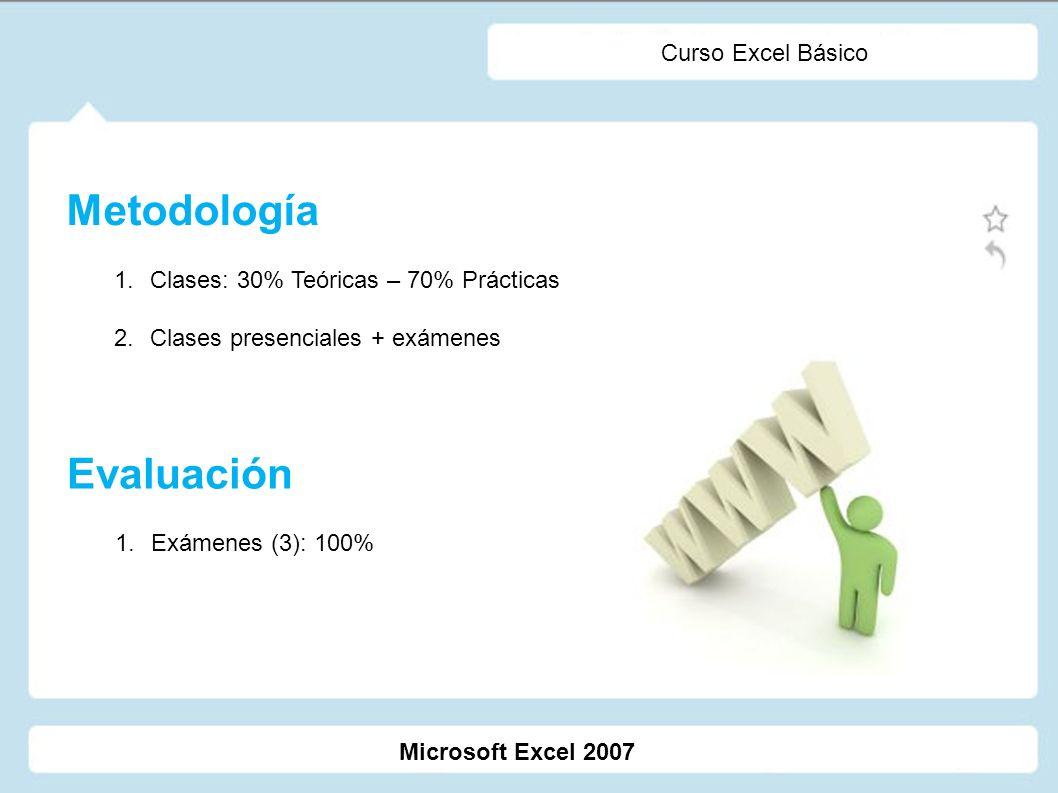 Microsoft Excel 2007 Curso Excel Básico Programa 1.